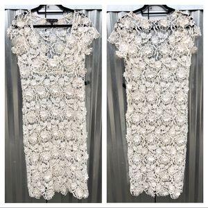 NEW For Love & Lemons crochet lace midi dress